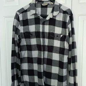 SALT VALLEY BLACK AND WHITE FLANNEL MEDIUM